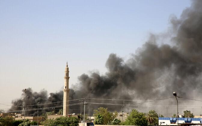 Põleng 10. juunil Bagdadis valimissedelite laos.