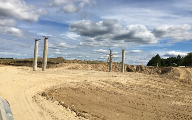 Строительство скоростного отрезка шоссе Козе-Выыбу-