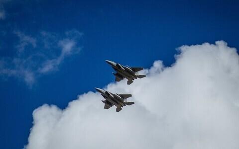 Истребители ВВС США F-15C Eagle.