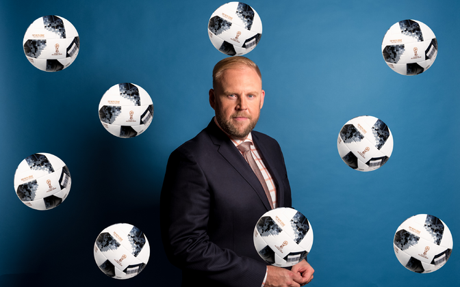 Urmas Vaino võtab jalgpalli MMi ajal hilisõhtuti iga mängupäeva kokku.