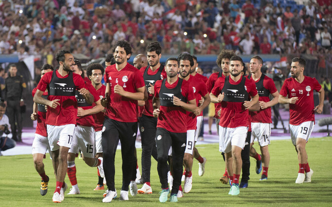 Egiptuse jalgpallikoondislased treeningul