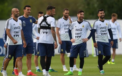 Сборная Аргентины на тренировке.