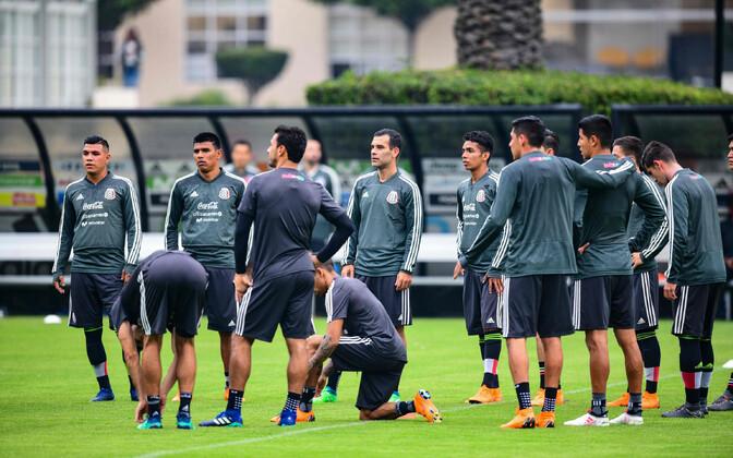 Mehhiko jalgpallikoondislased treeningul