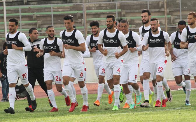 Tuneesia jalgpallikoondislased treeningul