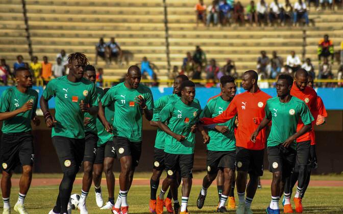 Senegali jalgpallikoondis treeningul