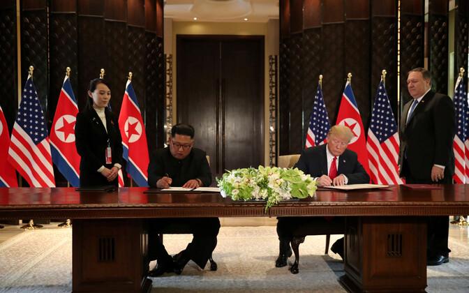 Встреча Дональда Трампа и Ким Чен Ына.