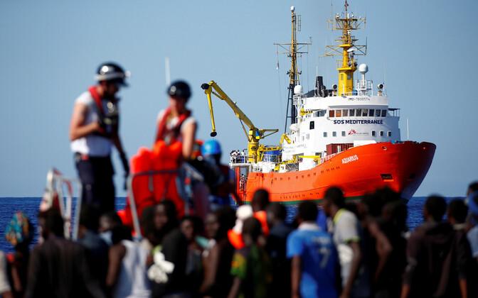 Aquarius eelmise aasta septembris Liibüa ranniku lähistel.