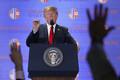 Trump tippkohtumise järgsel pressikonverentsil.