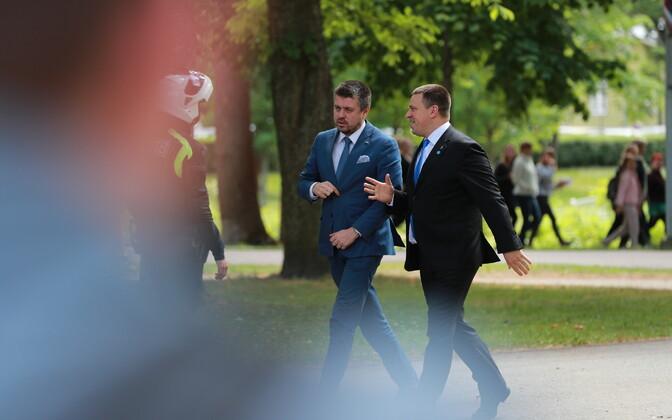 Justiitsminister Urmas Reinsalu ja peaminister Jüri Ratas