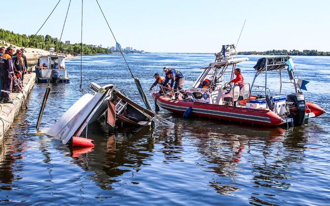 Otsingu- ja päästeoperatsioon Volga jõel.
