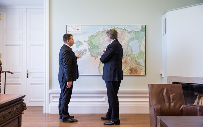 Ratas with King Willem-Aleksander at Stenbock House, 12 June 2018.