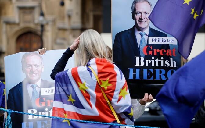 Brexiti vastane meeleavaldus.