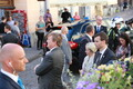 King Willem-Alexander of the Netherlands and President Kersti Kaljulaid visit Tallinn's medieval Old Town on Thursday. 13 June, 2018.