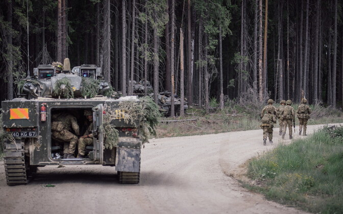 1. jalaväebrigaadi juhtimisharjutus Saber Strike 2018 ajal.