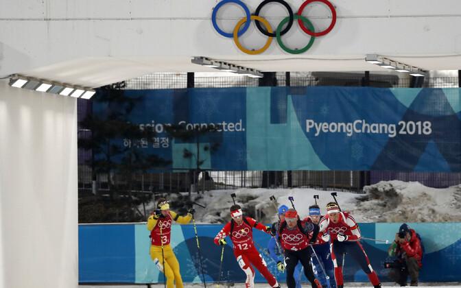 Laskesuusatajad PyeongChangi olümpial.