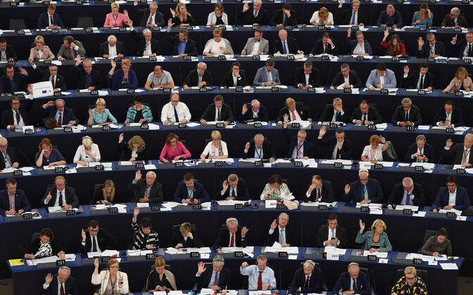 Hääletamine Euroopa Parlamendis Strasbourg'is 13. juunil.