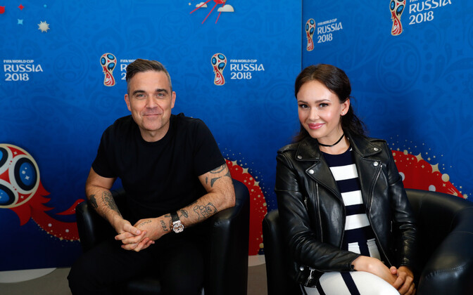 Robbie Williams ning vene staar Aida Garifullina