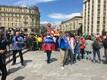 Болельщики собираются на первый матч ЧМ-2018 в Москве.