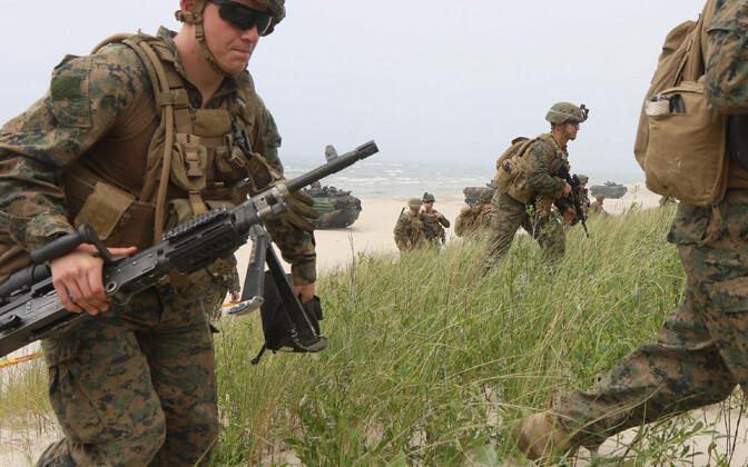 USA sõdurid õppusel Leedus.