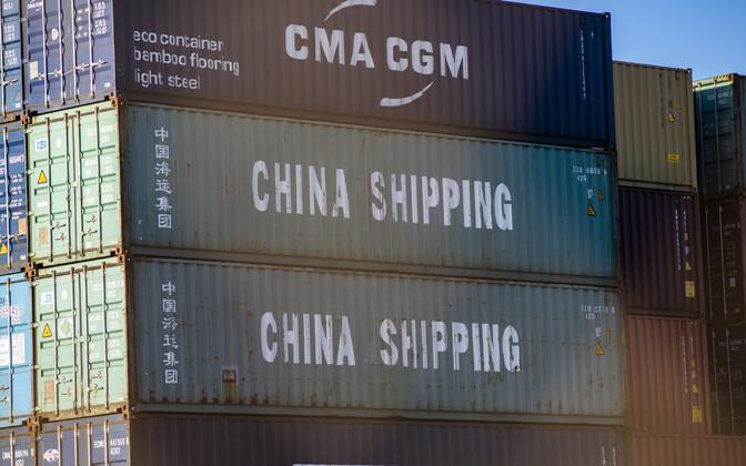 Hiina kaup Oaklandi sadamas.