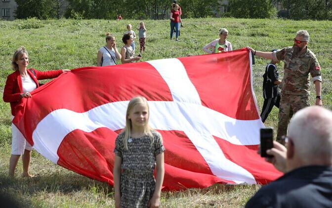 Датский флаг в Тапа.