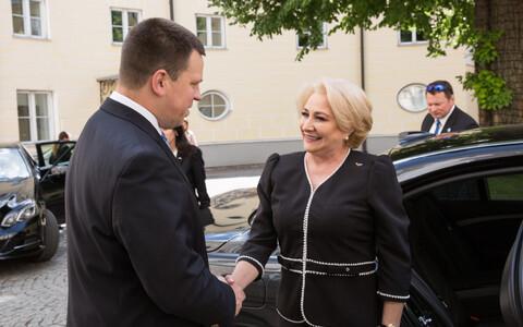 Prime ministers Jüri Ratas and Viorica Dăncilă in Tallinn.