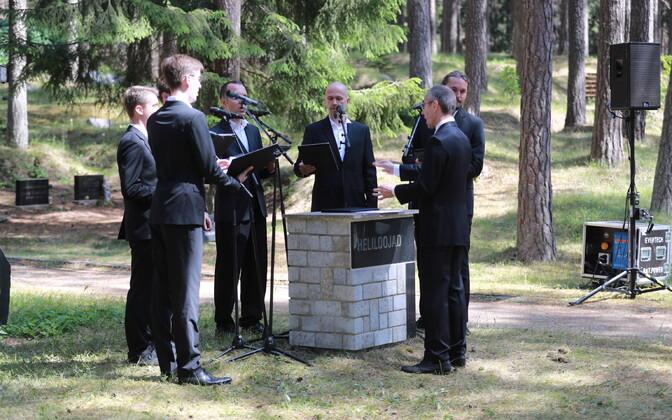 Eduard Tubina mälestustseremoonia Metsakalmistul.