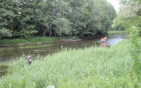 Поиски на реке Пыльтсамаа.