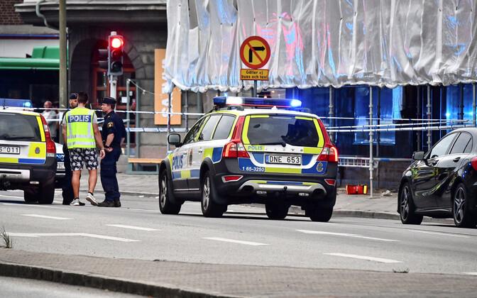 Rootsi politsei Malmös tulistamispaigas.