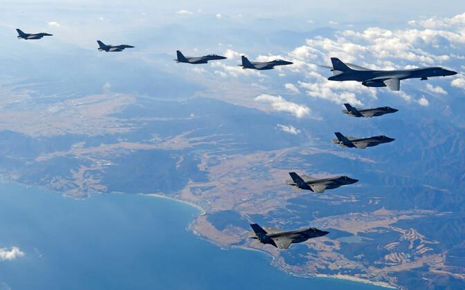 USA ja Lõuna-Korea ühised õhuväeõppused 2017. aasta detsembris.