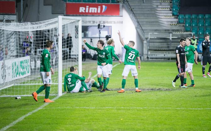 Tallinna FC Flora mängijad.