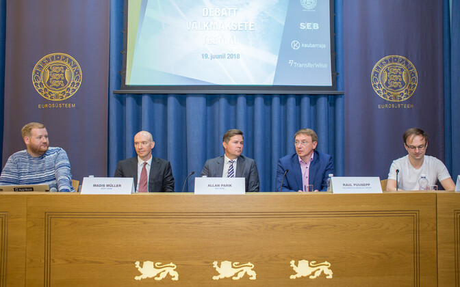 Debate on instant payments at the Bank of Estonia on Tuesday. 19 June, 2018.