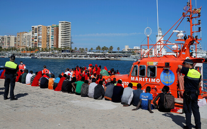 Migrandid Hispaanias Malaga sadamas.