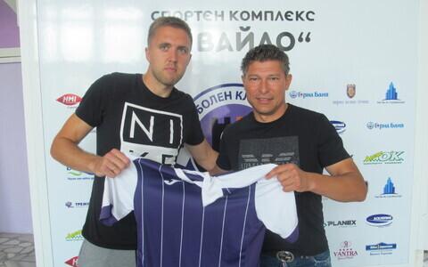 Artjom Artjunin oma uue peatreeneri Krasimir Balakoviga.