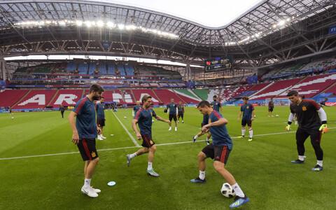 Hispaania jalgpallikoondis treeningul