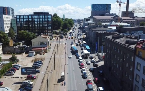 Пробки в Таллинне.