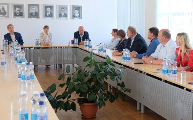 Kersti Kaljulaid visiidil Haapsalus.
