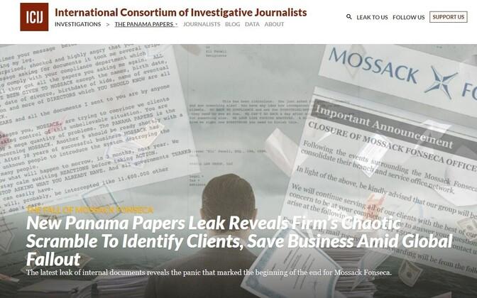 Rahvusvahelise Uurivate Ajakirjanike Konsortsiumi (ICIJ) veebileht.