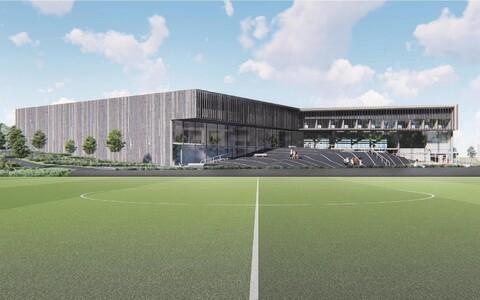 Hiiumaa uue spordikeskuse arhitektuurikonkursi võidutöö Mardikas.