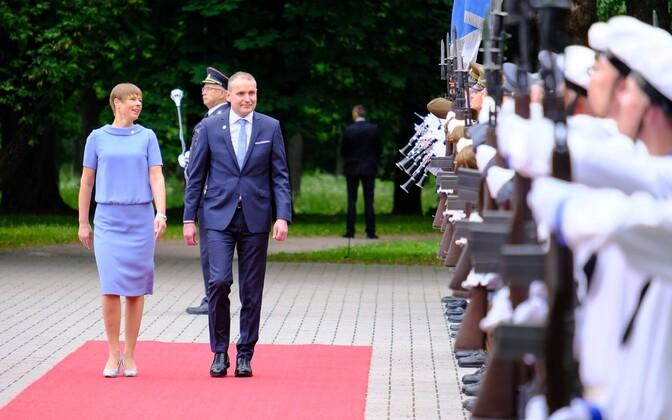 President Kresti Kaljulaid võõrustas Islandi presidenti Guðni Th. Jóhannessoni.