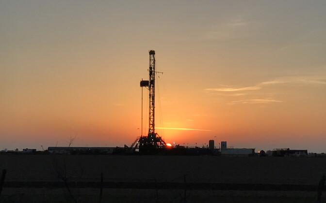 Nafta puurtorn Texases.