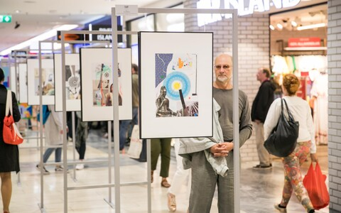 Vilen Künnpu näituse avamine Viru keskuses