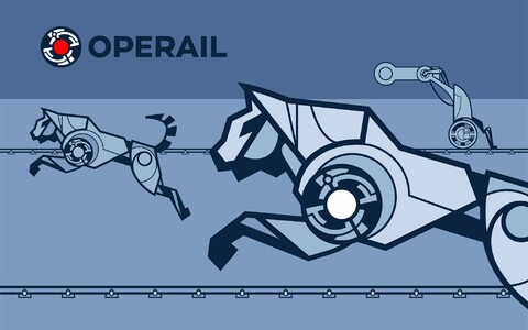 The new visual identity of Operail (formerly EVR Cargo).