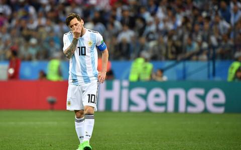 Lionel Messi pärast kaotus Horvaatiale.
