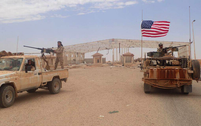 USA ja liitlased Al-Tanfi baasis 2017. aastal.