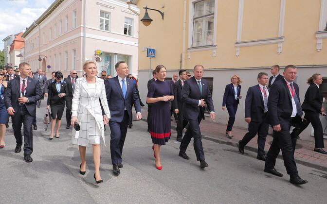 The heads of state of Estonia, Latvia, Lithuania, Finland, Poland, Iceland and Georgia are in Tartu on Friday. 22 June, 2018.