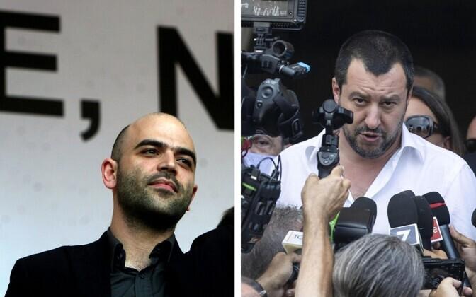 Roberto Saviano (vasakul) ja Matteo Salvini.