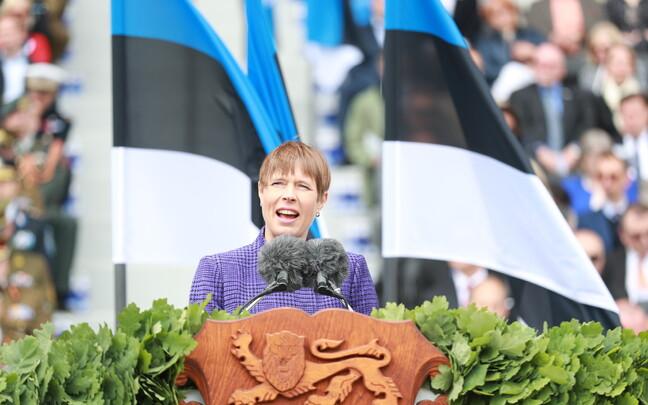Кальюлайд выступила с речью на Параде в честь Победы в освободительной войне.