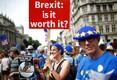 В центре Лондона протестующие требуют народного референдума по условиям соглашения по брекситу.