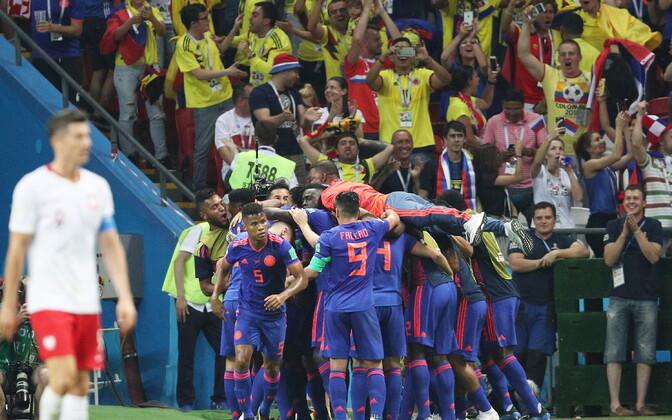 Kolumbia jalgpallikoondis alistas MM-il Poola